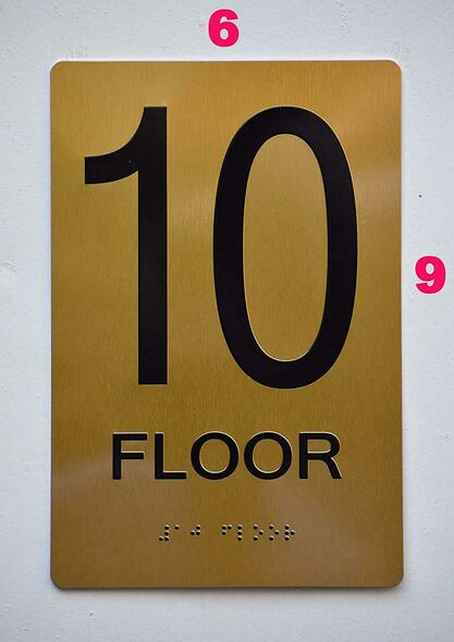 Sign 10 FLOOR