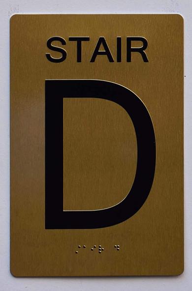 BUILDING MANAGEMENT SIGN- Stair D
