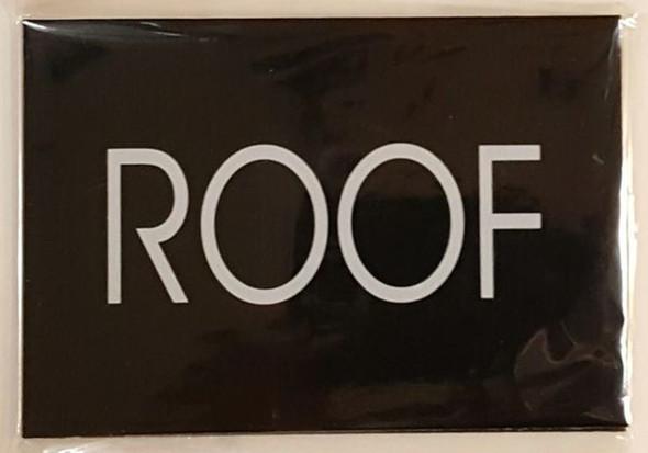 ROOF SIGN - BLACK (ALUMINUM SIGNS