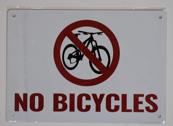 BUILDING MANAGEMENT SIGNS- NO Bicycles