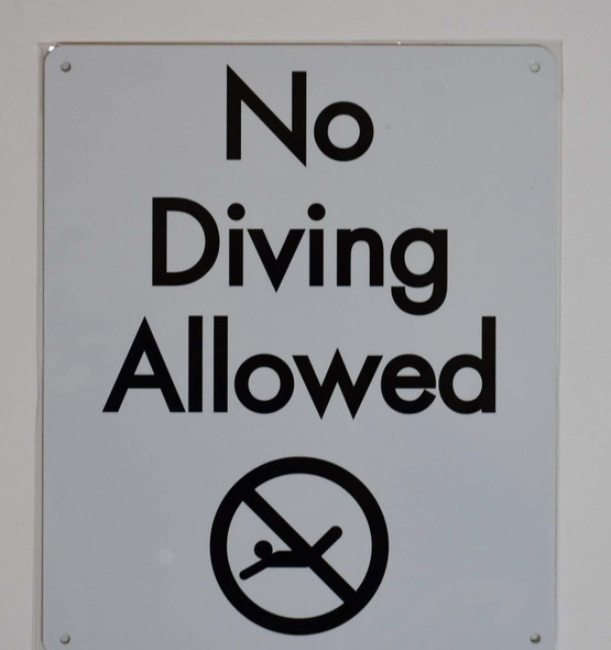 spa signs- NO Diving Allowed