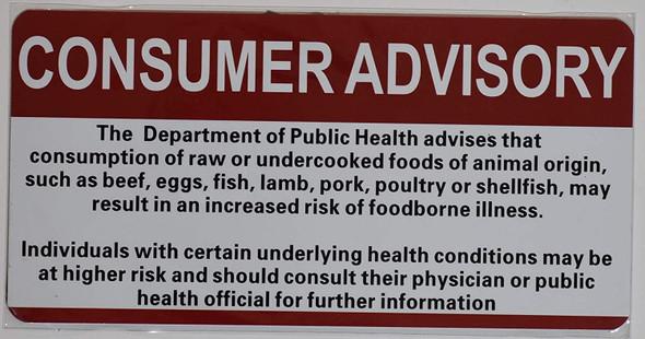 RESTAIRANT Consumer Advisory SIGN