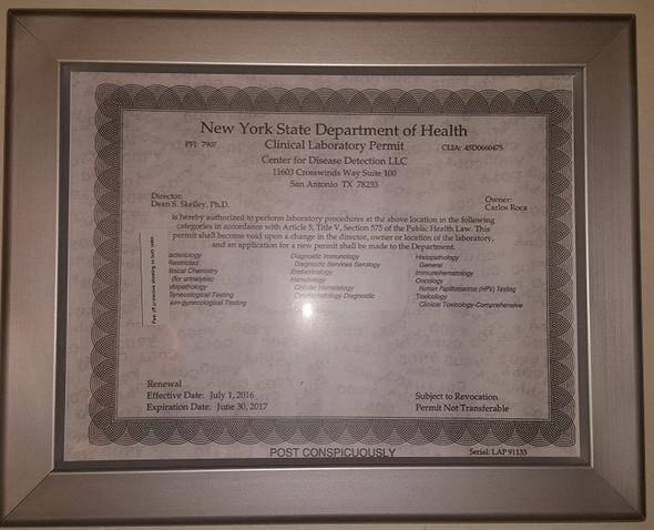 NYS Permit Frame