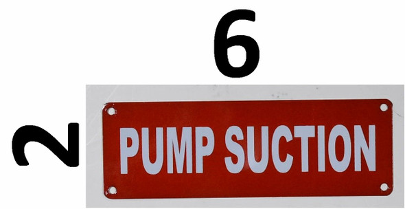Fire Department Sign- Pump Suction