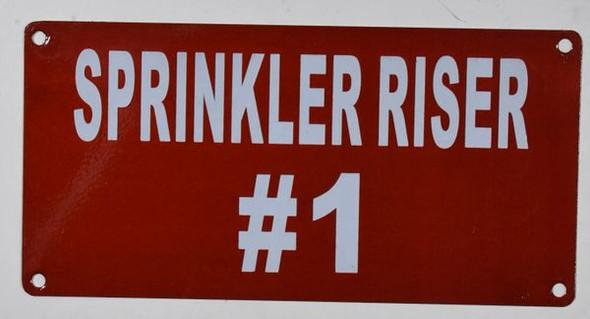 Sign Sprinkler Riser #1