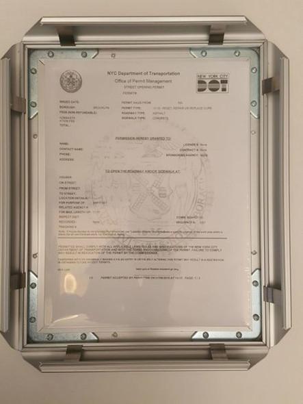 Department of transportation permit frame