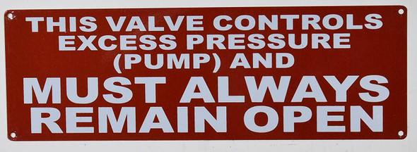 SIGNS This Valve Controls Excess Pressure (Pump)