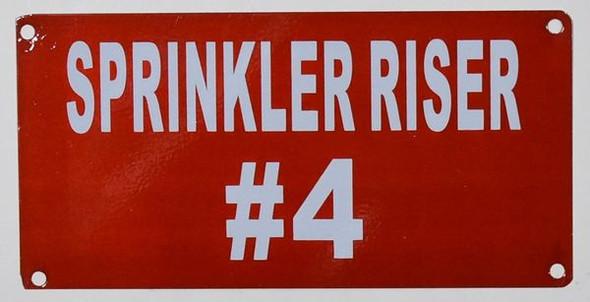 Compliance Sign-SIGNS Sprinkler Riser #4