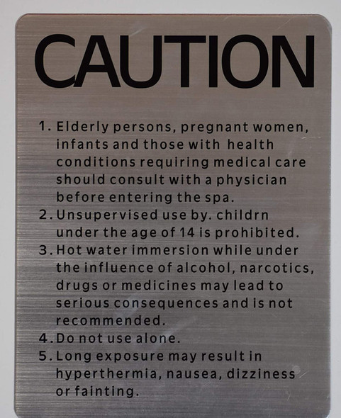 """SIGNS SPA Rules -""""Caution SPA"""" Sign (8.5x11,"""