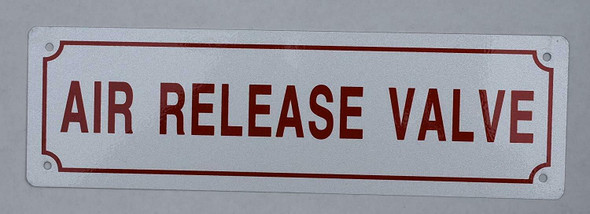 AIR Release Valve Sign