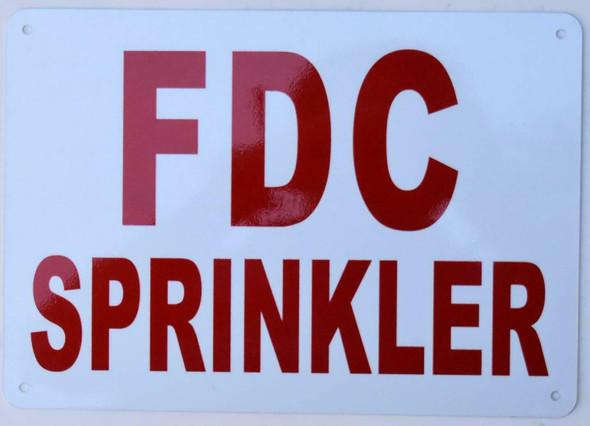 FDC Sprinkler Sign