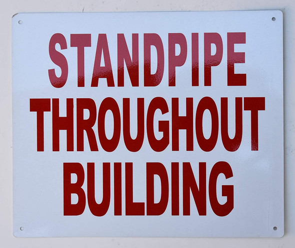 Sign Standpipe Throughout Building