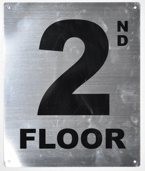 Sign 2nd Floor