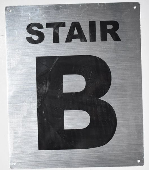 Fire Department Sign-Stair B