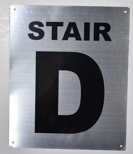 Fire Department Sign- Stair D