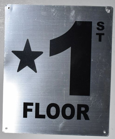 Fire Safety Sign- * 1st Floor
