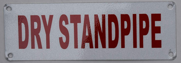 Fire Department Sign- Dry Standpipe