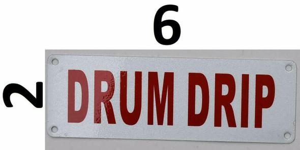 Fire Department Sign- Drum DRIP