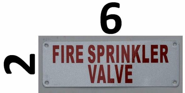 Fire Department Sign- FIRE Sprinkler Valve