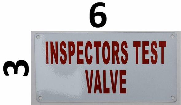 Fire Department Sign- inspector Test Valve