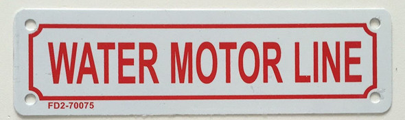 Fire Department Sign- Water Motor LINE