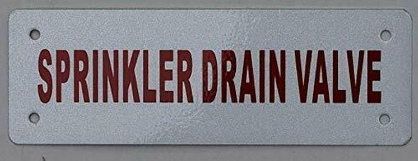 Sprinkler Drain Valve Sign