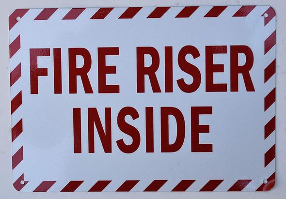 Fire Safety Sign- FIRE Riser Inside