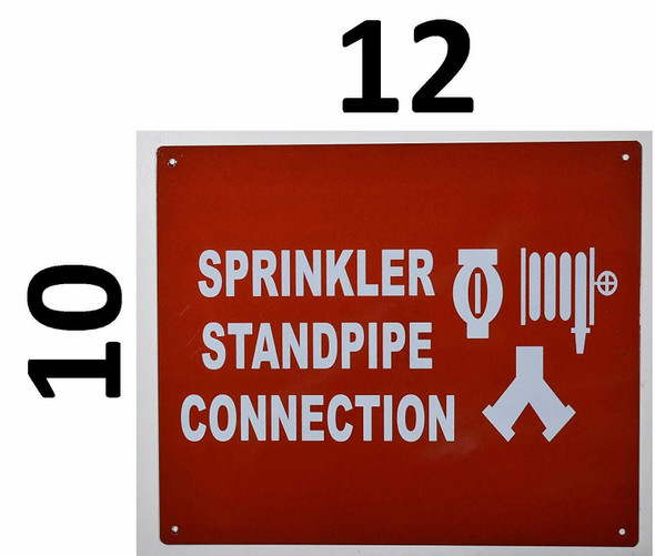 Compliance Sign- Sprinkler Standpipe Connection