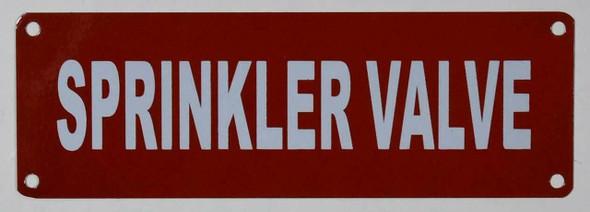 Fire Safety Sign- Sprinkler Valve