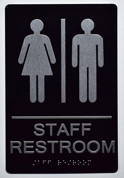 SIGNS STAFF Restroom Sign 6X9 ADA Tactile