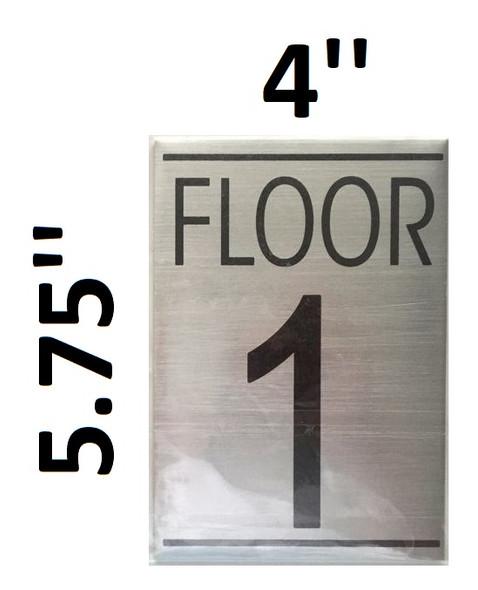 FLOOR NUMBER 1 SIGN
