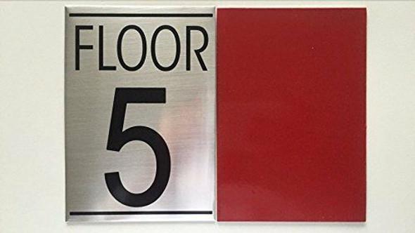 FLOOR NUMBER 5 SIGN