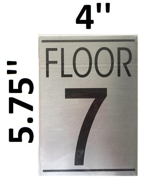 FLOOR NUMBER 7 SIGN