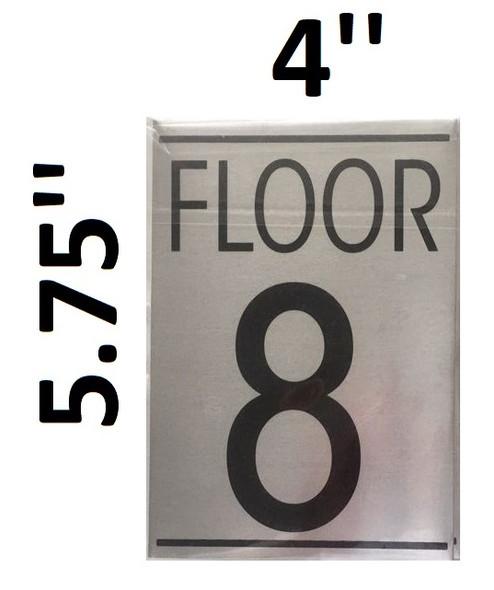 FLOOR NUMBER 8 SIGN