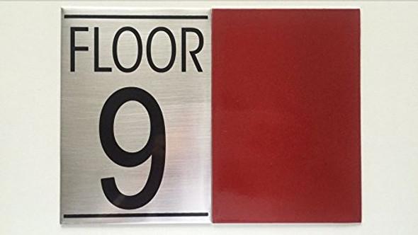 FLOOR NUMBER 9 SIGN