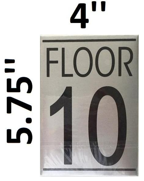 FLOOR NUMBER 10 SIGN