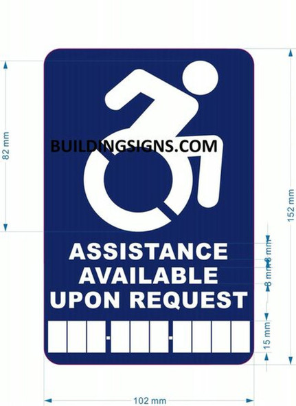 SIGNS Assistance Available Upon Request Sign with
