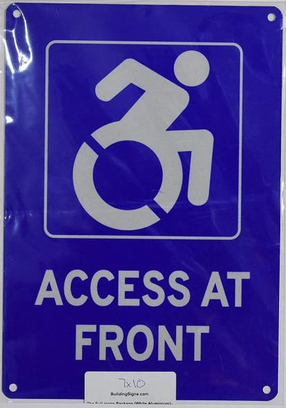 ADA Access at Front Signuminium