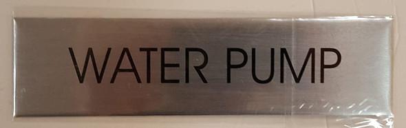 WATER PUMP SIGN