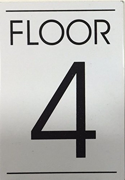 FLOOR NUMBER 4 SIGN