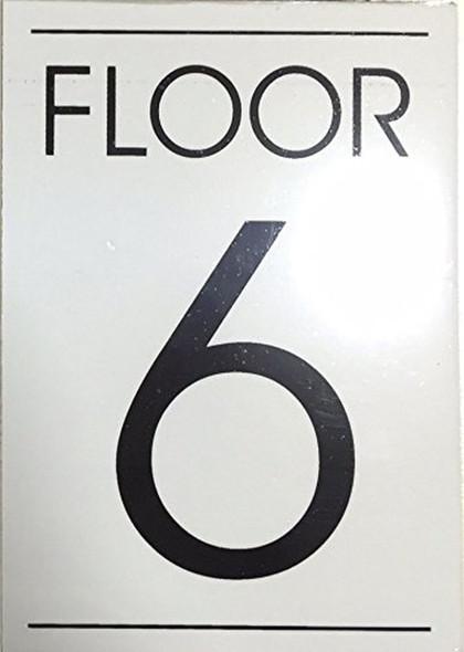 FLOOR NUMBER 6 SIGN