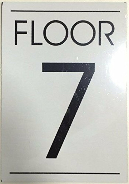 SIGNS FLOOR NUMBER SIGN WHITE - 7TH