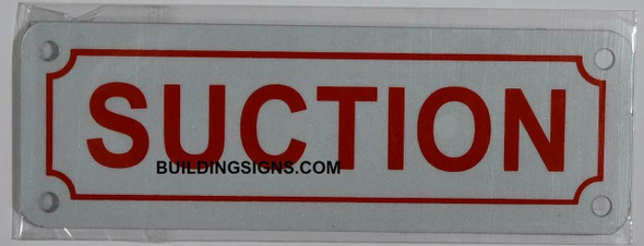SUCTION SIGN