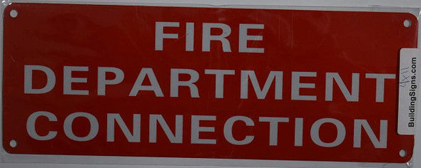 FIRE Department Connection Sign (red Reflective,