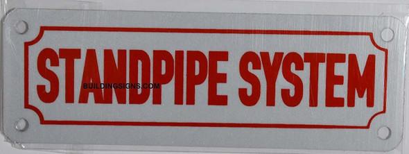Standpipe System Sign (White Reflective, Aluminium