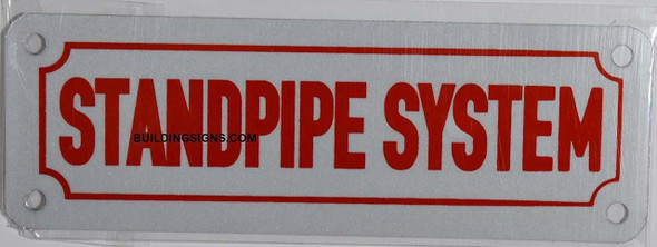 SIGNS Standpipe System Sign (White Reflective, Aluminium
