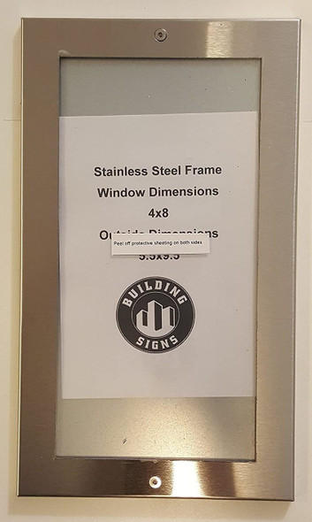 Lobby Directory Board - FRAME STAINLESS