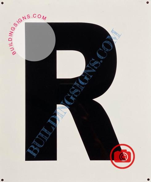 LETTER R SIGN