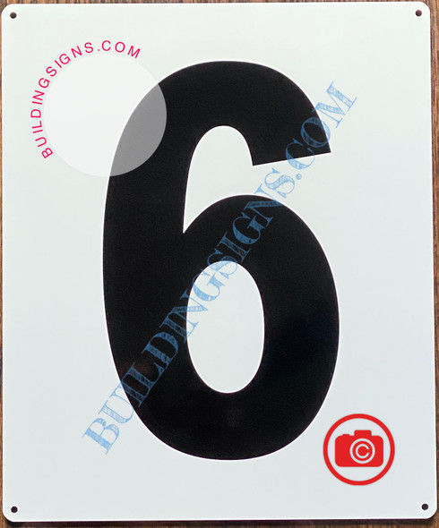 NUMBER 6 SIGN