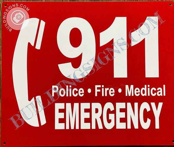 Sign 911 Emergency